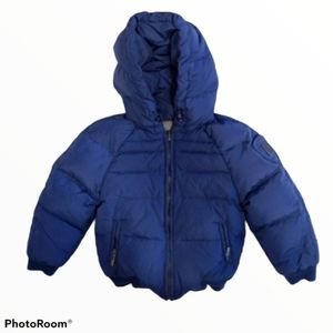 ADD Down Puffer Reversible Hooded Toddler Coat